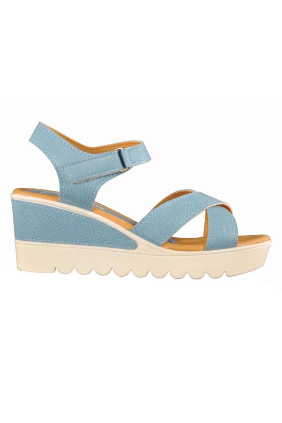 Polaris 91.308569.Z Mavi Kadın Sandalet 100376388 1