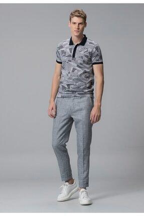 Lufian Erkek Lacivert  Alope Klasik Polo Yaka T-shirt