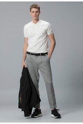 Lufian Erkek Beyaz Egina Klasik Polo Yaka T-shirt