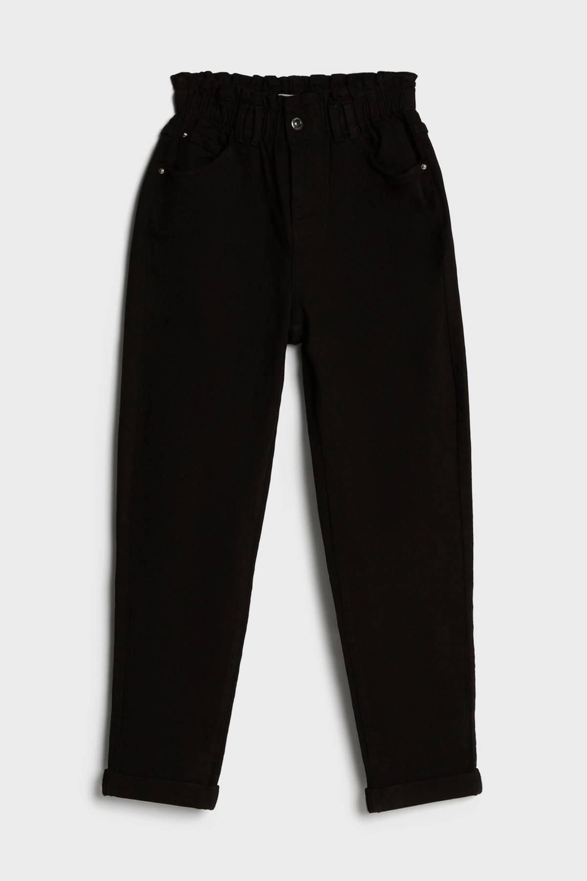Bershka Kadın Siyah Elastik Belli Pantolon 2