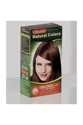 Organic Natural Colors Natural Colors 6kr Çikolata Kahve Kızılı Organik Saç Boyası