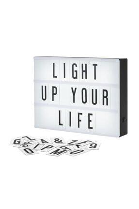 ORİJİNALDÜKKAN Lightbox A4 Led Işık Işıklı Mesaj Panosu 96 Harf Light Box Pano