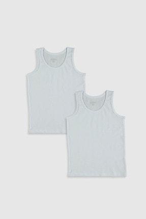 LC Waikiki Erkek Çocuk Parlak Beyaz Jyx İç Giyim Atlet