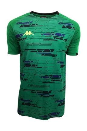 Kappa Erkek Yeşil Dijital Basklı T-shirt