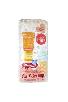 COSMED Sun Essential Koyu Leke Karşıtı Yüksek Koruma Spf50 50 ml  Yoğun Dudak Balmı Hediye