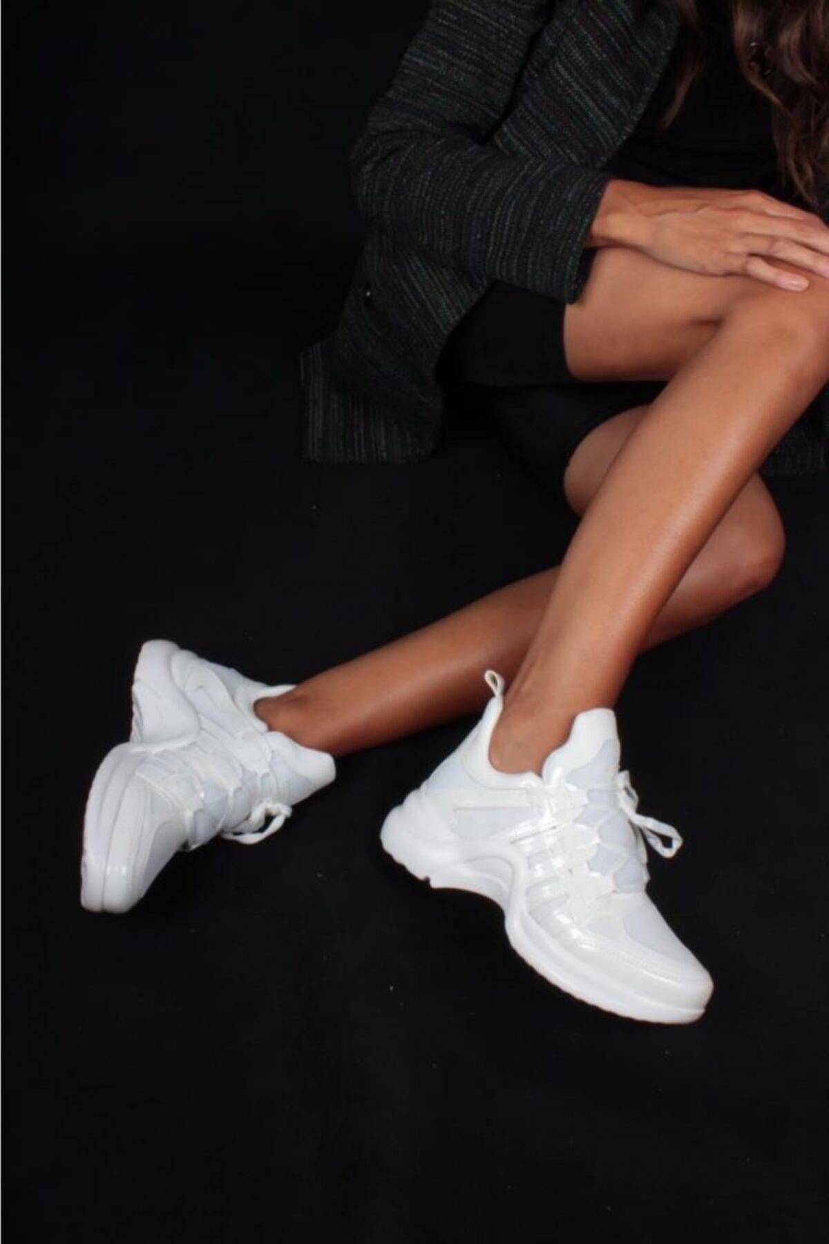 İnan Ayakkabı Kadın Beyaz Spor Ayakkabı Y2020 1
