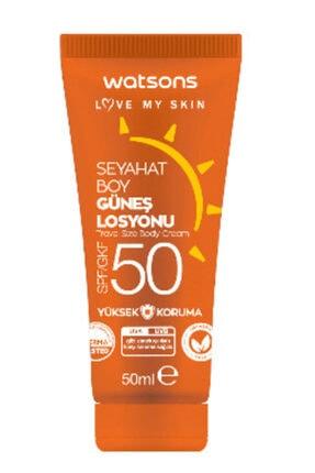 Watsons Seyahat Boy Spf 50 Güneş Kremi 50 Ml