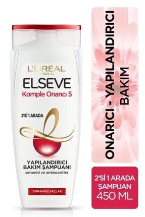 ELSEVE Komple Onarıcı 5 Yapılandırıcı Bakım Şampuanı 2'si 1 Arada 450 Ml