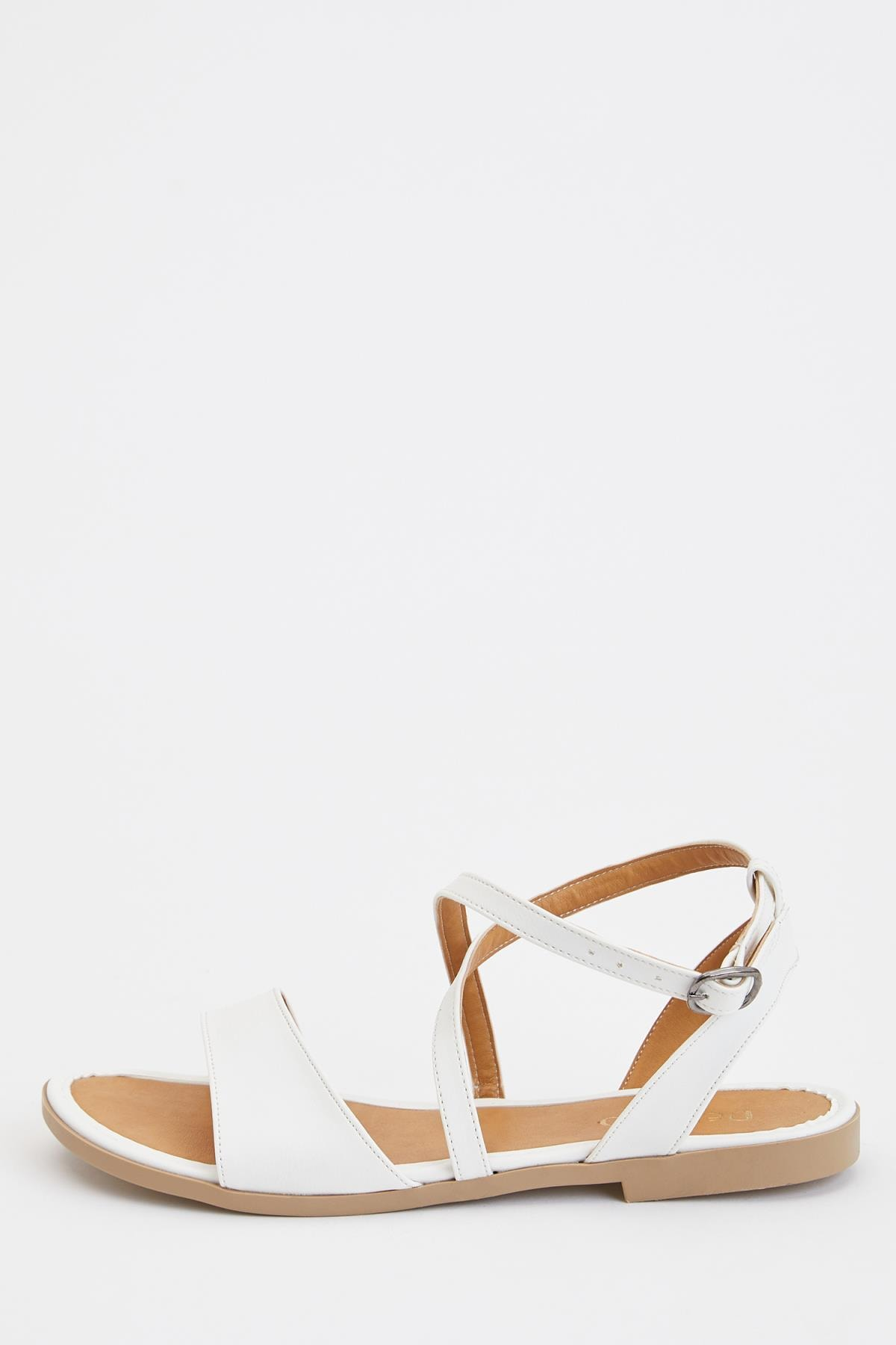 DeFacto Kadın Beyaz Çapraz Bant Sandalet S5909AZ20SM