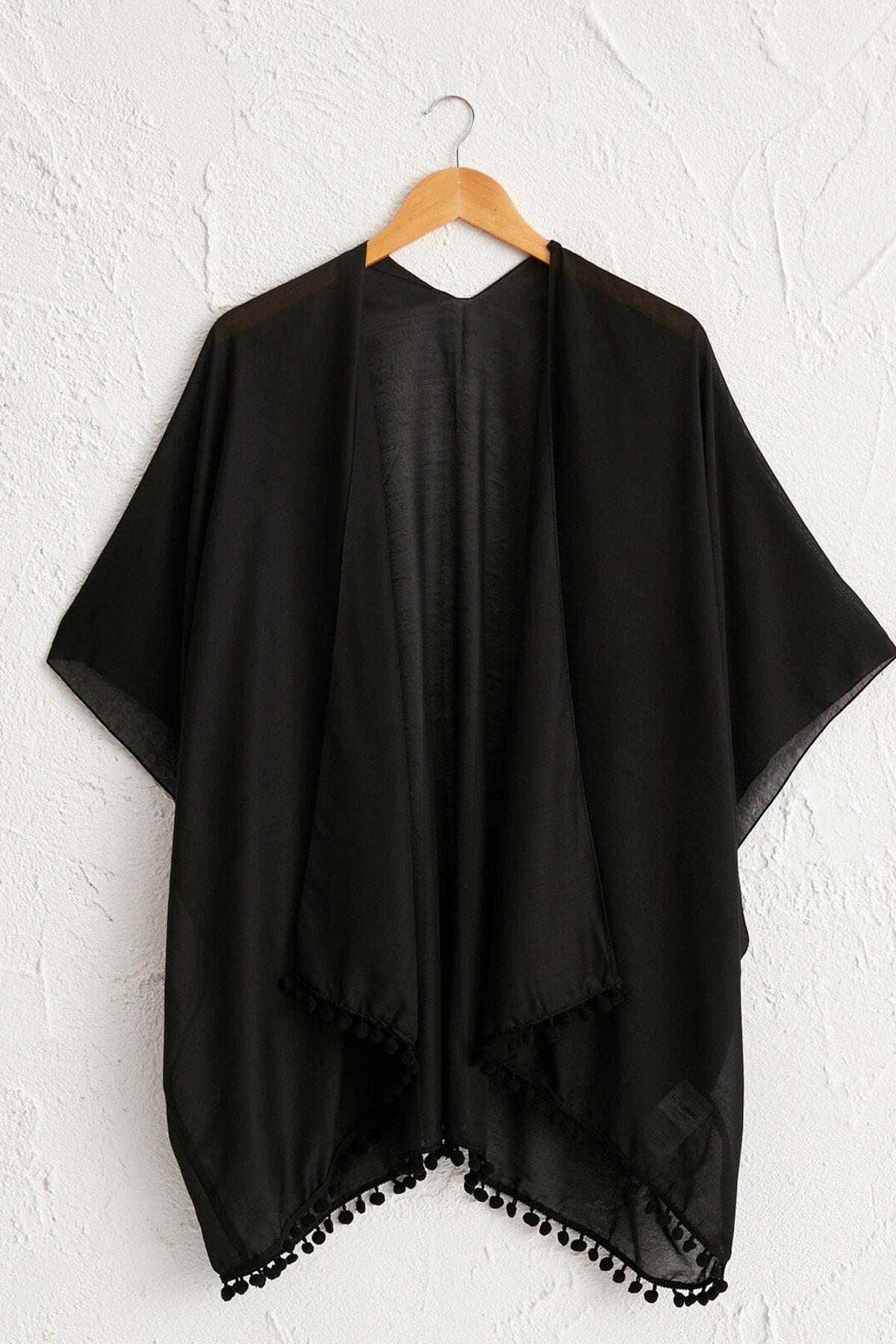 LC Waikiki Kadın Yeni Siyah Elbise 0SE625Z8 1
