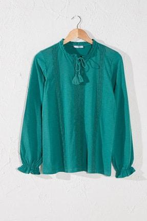 LC Waikiki Kadın Koyu Suyeşili Tişört 0SV568Z8