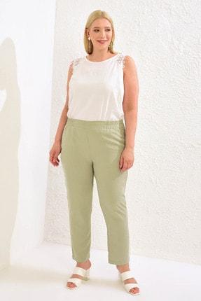 LC Waikiki Kadın Mat Yeşil Pantolon 0WCD07Z8