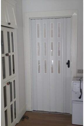 SARPAŞ Katlanır Akordiyon Pvc Tek Kapı Camlı 87 X 220 cm Beyaz 12 mm