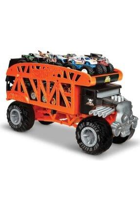 HOT WHEELS Monster Trucks Taşıyıcı Kamyon - 12 Adet 164 Ölçekli Araç Kapasiteli Gkd37