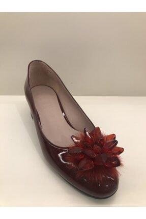 İnci Kadın Bordo Kalın Topuklu Ayakkabı