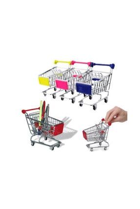 epazzar Minyatür Market Arabası Alışveriş Sepeti Kalemlik Assorti