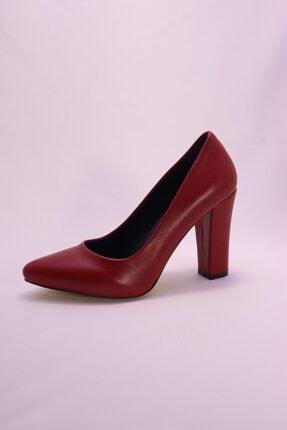 Eldora Shoes Kadın Kırmızı Topuklu Ayakkabı