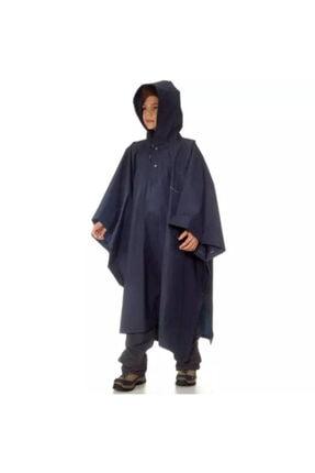 SHAREE Çocuk Lacivert Panço Uzun Yağmurluk
