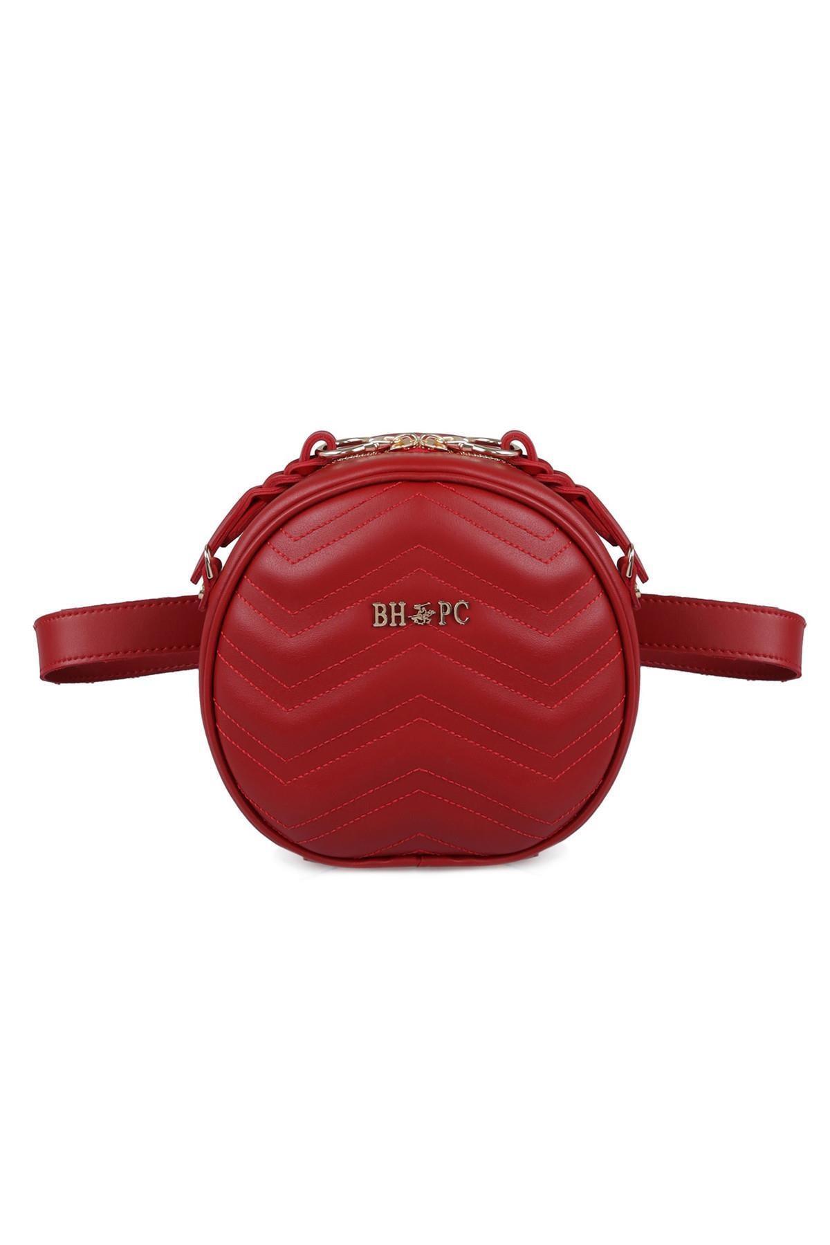 Beverly Hills Polo Club Kadın Zikzaklı Yuvarlak Bel Çantası Kırmızı 1