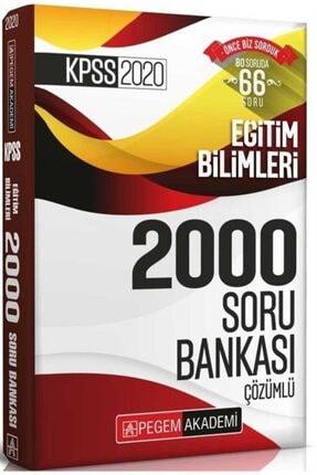 Pegem Akademi Yayıncılık 2020 Kpss Eğitim Bilimleri Çözümlü Efsane 2000 Soru Bankası