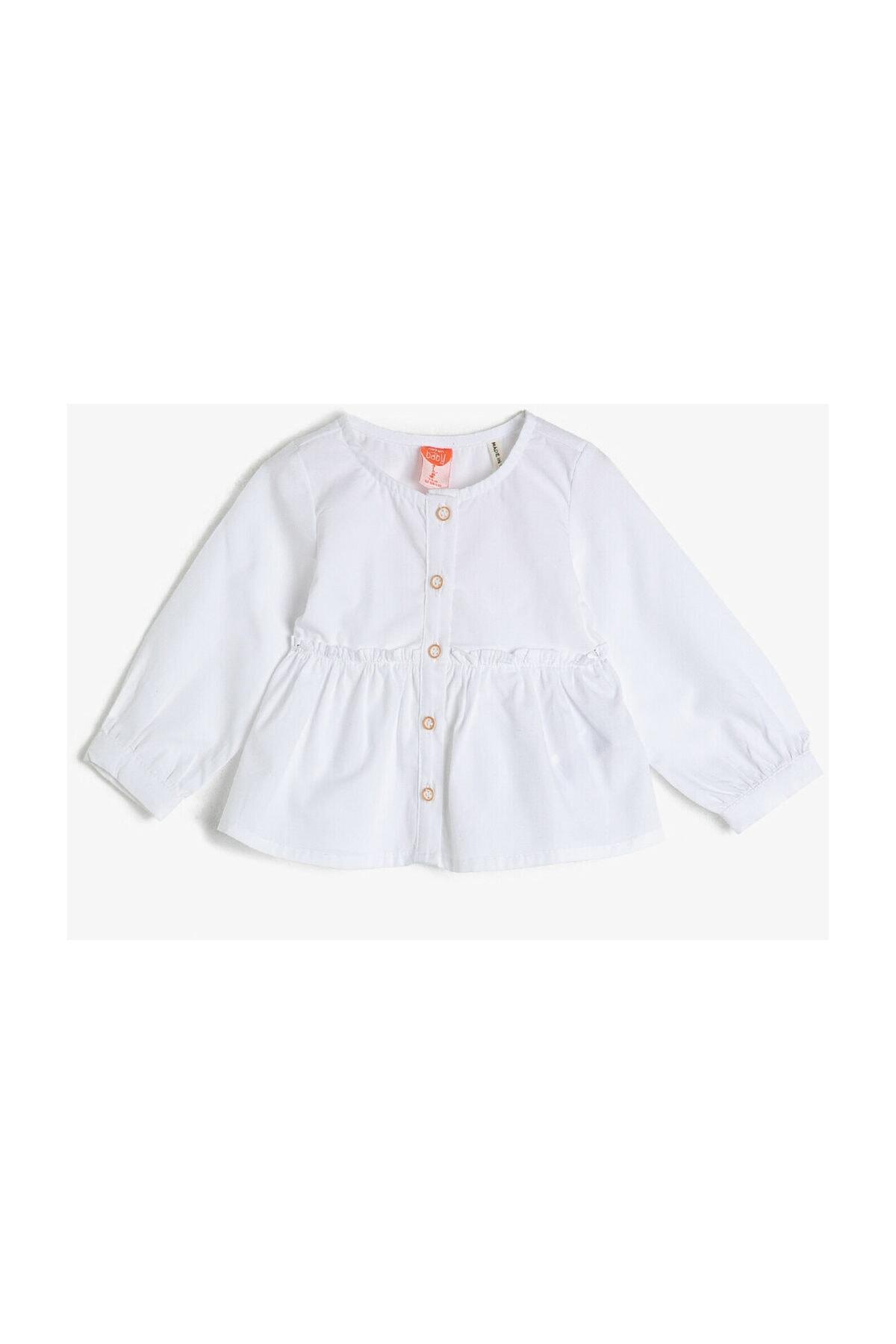 Koton Kids Beyaz Kız Bebek Gömlek 1