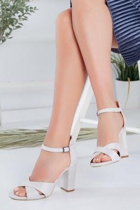 Hayalimdeki Ayakkabı Kadın Kırık Beyaz  Topuklu   Süet Ayakkabı
