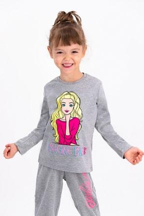 Barbie Lisanslı Grimelanj Kız Çocuk Pijama Takımı