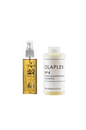 Olaplex Bond Maintenance No:4 Şampuan 250 Ml+biomega 40 Bitkili Doğal Saç Bakım Yağı 150 Ml