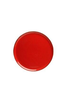 Kütahya Porselen 27 cm Kırmızı Pizza Tabağı