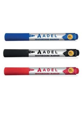 Adel Mavi Kırmızı Siyah Beyaz Tahta Kalemi