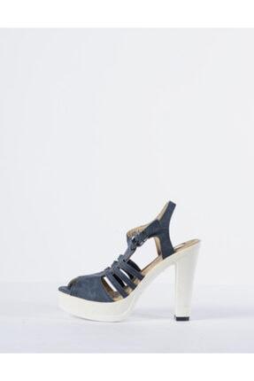 Vision Kadın Mavi Topuklu Ayakkabı