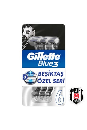 Gillette Blue3 Besiktas Taraftar Paketi 6'lı
