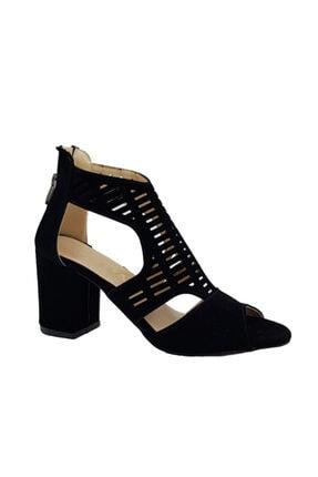 Orkide Kadın Siyah Topuklu Sandalet