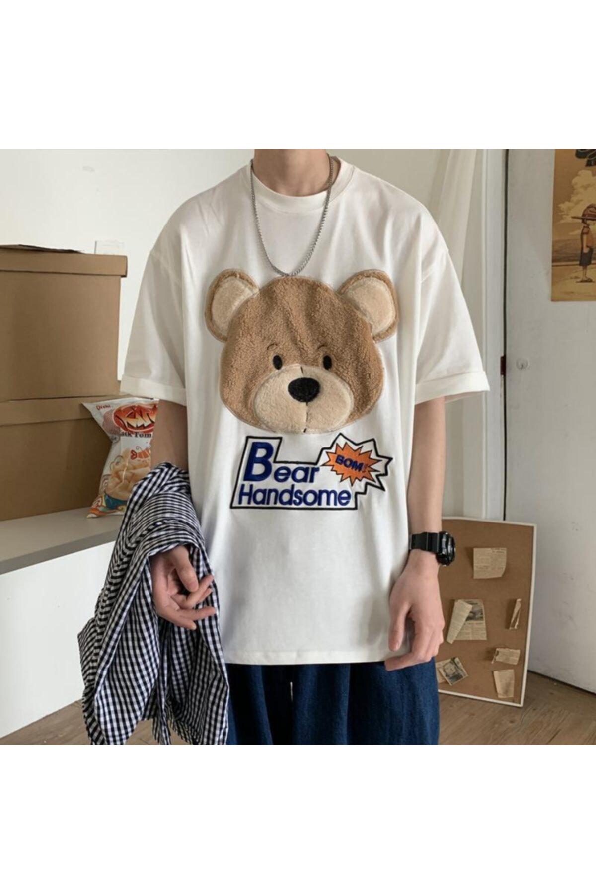 cartoonsshop Bear Handsome Beyaz 1