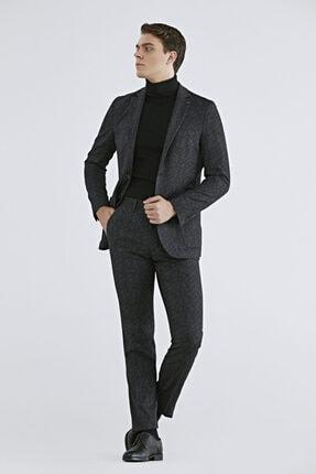 D'S Damat Erkek Siyah Baskılı Sihirli Takım Elbise