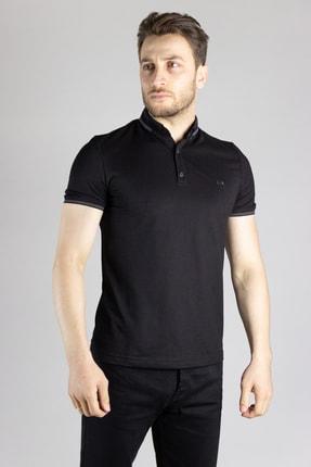 ZEKİ ÖZER Erkek Siyah Polo Yaka T-shirt