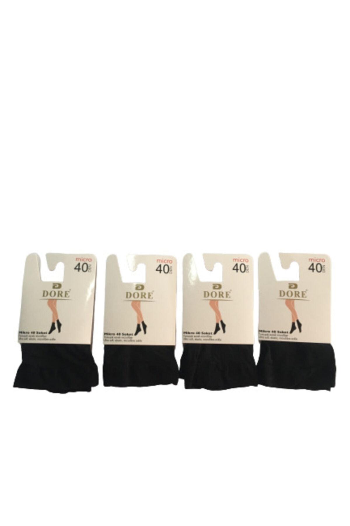 Dore Kadın Micro 40 Soket Siyah Çorap 4'lü 2