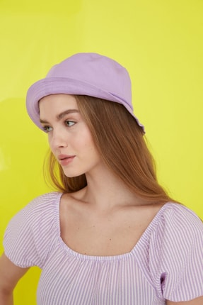 TRENDYOLMİLLA Lila Bucket Şapka TWOSS21SP0003