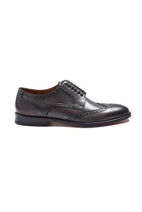 Hemington Erkek Gri El Yapımı Koyu Klasik Deri Ayakkabı