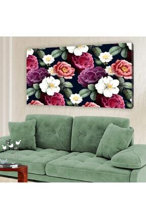 hanhomeart Rengarenk Güller Kanvas Tablo 60x120 cm