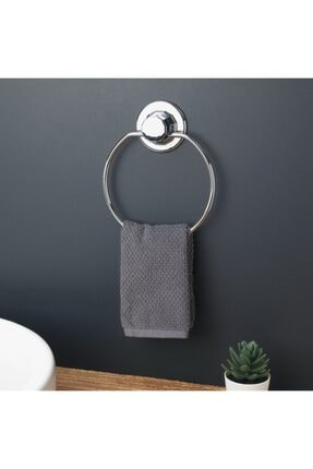 Evistro Vakumlu Banyo Tuvalet Havlu Askısı Oval