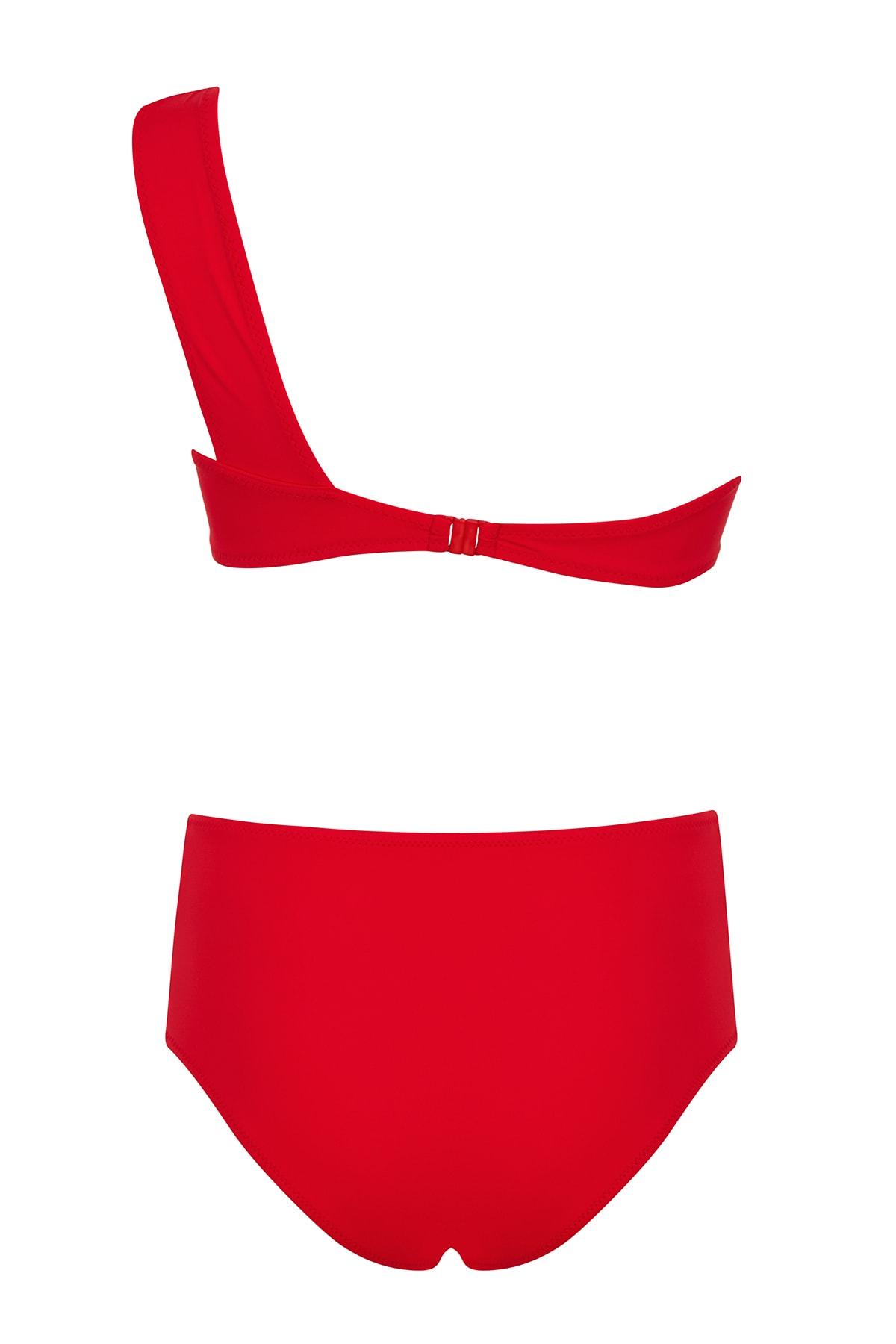 SAILOR swimwear Tek Omuz Deniz Kabuklu Bikini Takım 2