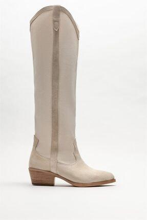 Elle Shoes Kadın Bej Deri Yazlık Çizme