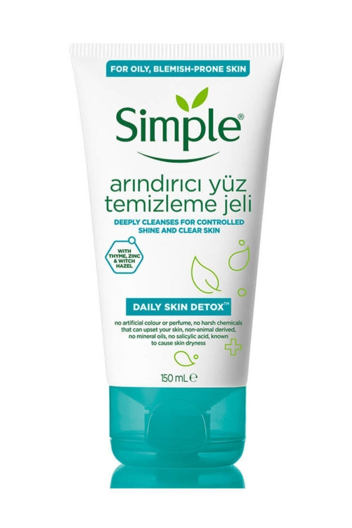 Simple Daily Skin Detox Yağlı/Karma Ciltler İçin Arındırıcı Yüz Temizleme Jeli 150 ml 1
