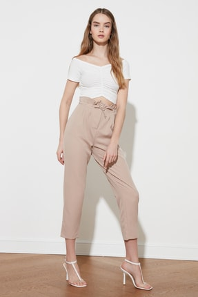 TRENDYOLMİLLA Taş Yüksek Bel Pantolon TWOSS21PL0426