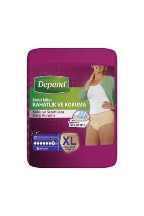 Depend Xl Beden Kadın Emici Külot 9 Lu (Bel Ölüçüsü 120-150 Cm) Yeni