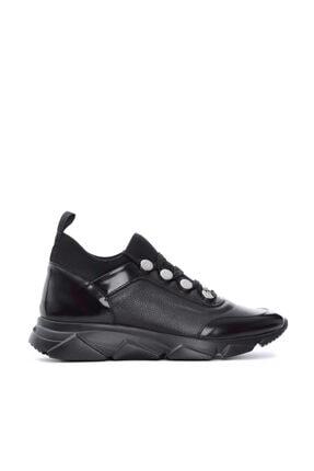 Roberto Botticelli Erkek Siyah Deri Spor Ayakkabı 501 Lu37157 Er.ayk