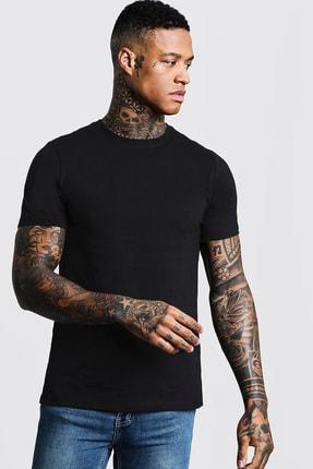 XHAN Siyah Bisiklet Yaka T-shirt 1kxe1-44750-02