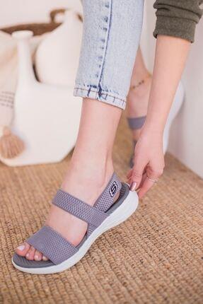 yesh Triko Lastik Bantlı Sandalet