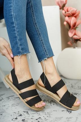 MUGGO Şeritli Kadın Sandalet